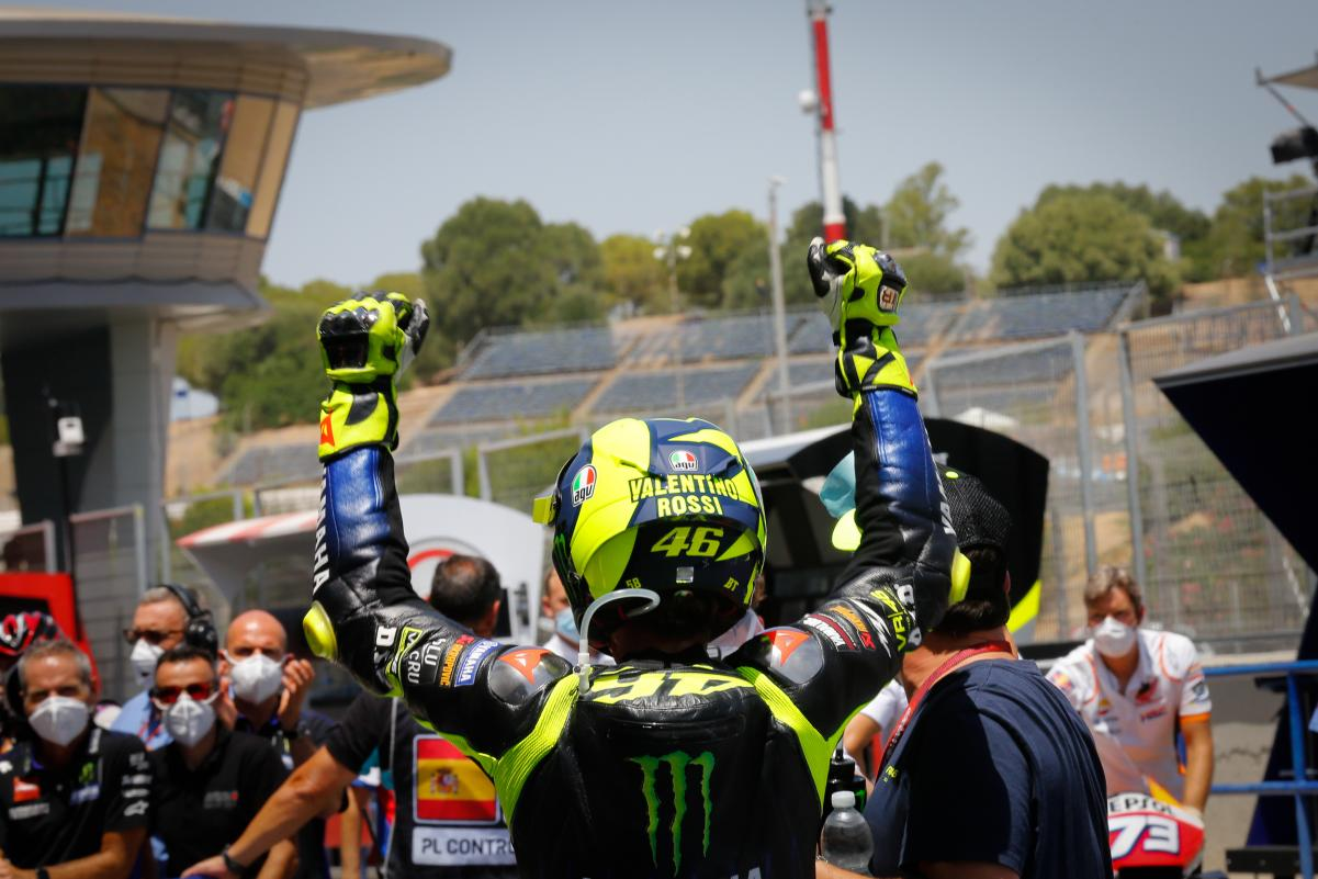 Valentino Rossi Podium Jerez 2020