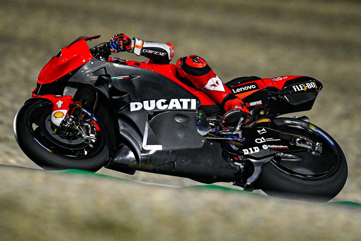 Ducati uji aerodinamika fairing