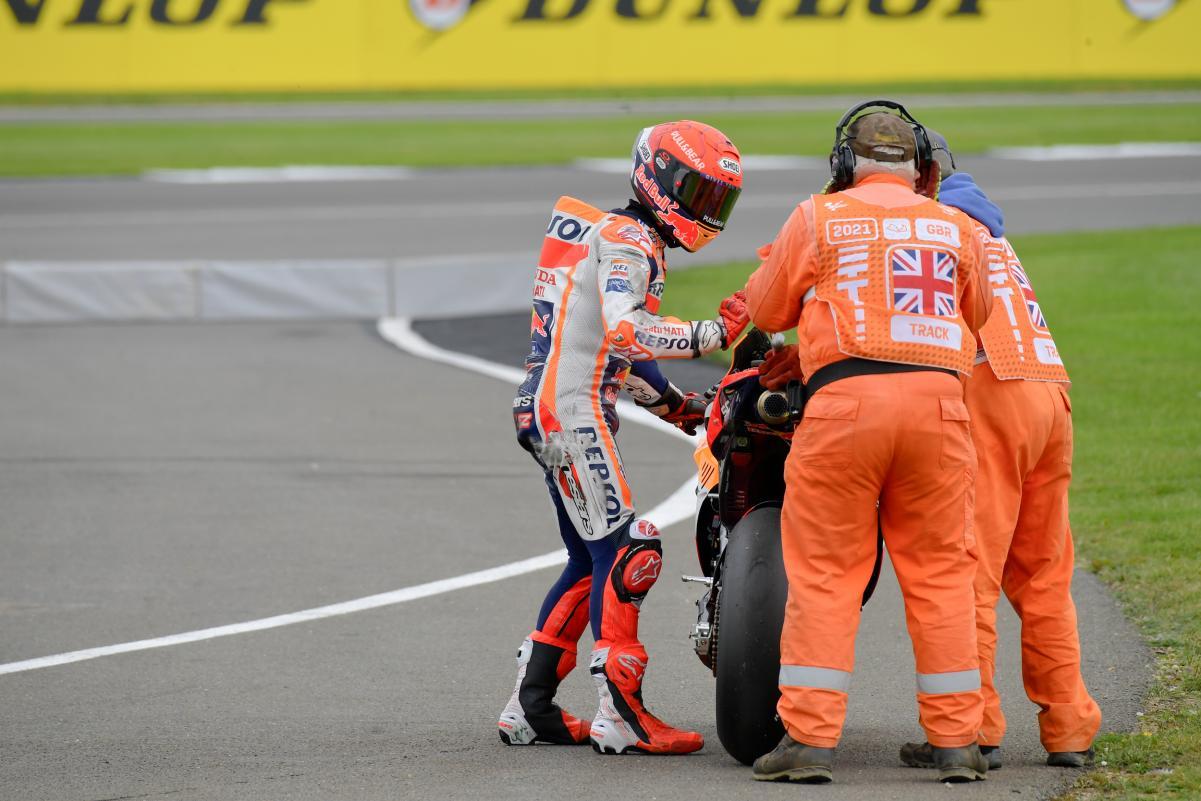Marc Marquez dan Jorge Martin Crash di Silverstone
